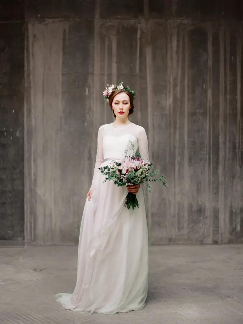 Long Sleeve Dresses Winter Weddings (by Milamira Bridal, Photo: Ksenia Milushkina) | http://emmalinebride.com/bride/dresses-winter-weddings/