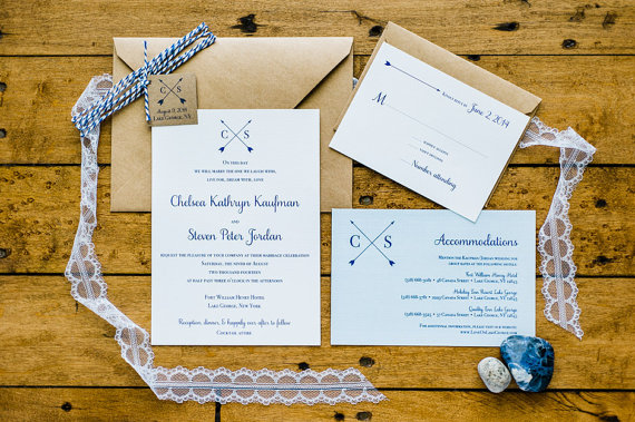 love arrow wedding invitations