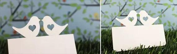 love bird place cards