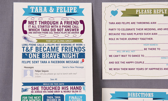 Love Story Wedding Invitation (invitation: Sparkvites)