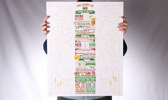 Love Story Wedding Invitation (poster: Sparkvites)