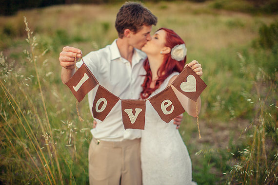 love wedding banner