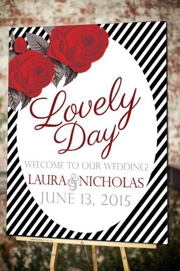 lovely-day-wedding-sign-with-rose