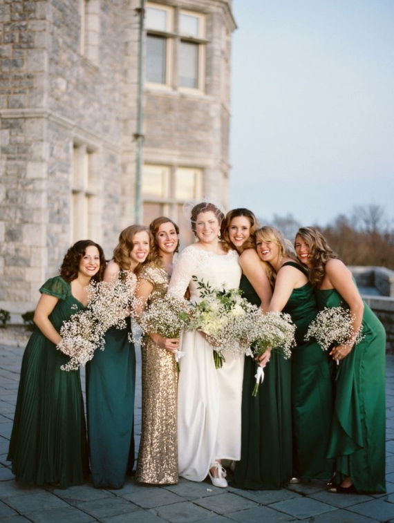 maid of honor in sequin dress
