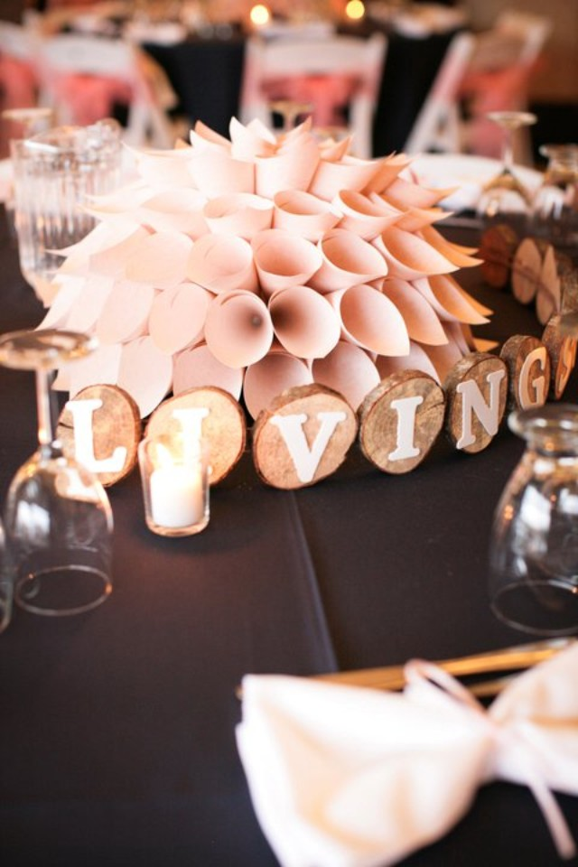 make a paper dahlia centerpiece   Best DIY Wedding Projects via http://emmalinebride.com/decor/best-wedding-diy-projects/