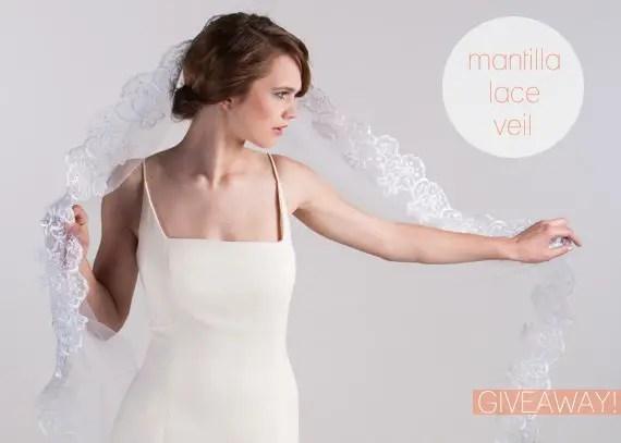 mantilla lace veil giveaway