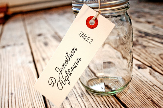 mason jar place card favors