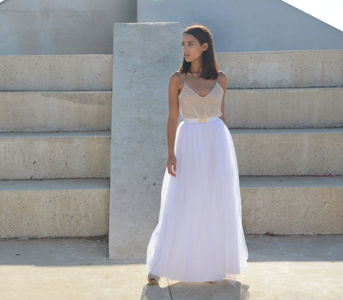 maxi tulle wedding dress | dresses boho weddings http://emmalinebride.com/bridal-gowns/dresses-boho-weddings/