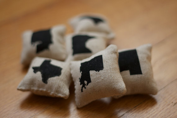 miniature state pillows