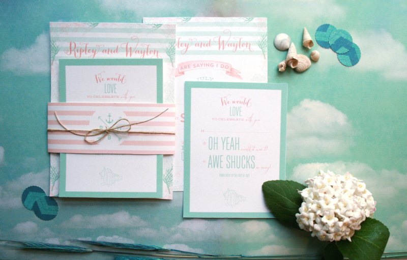 Coral and Mint Wedding Ideas | Emmaline Bride