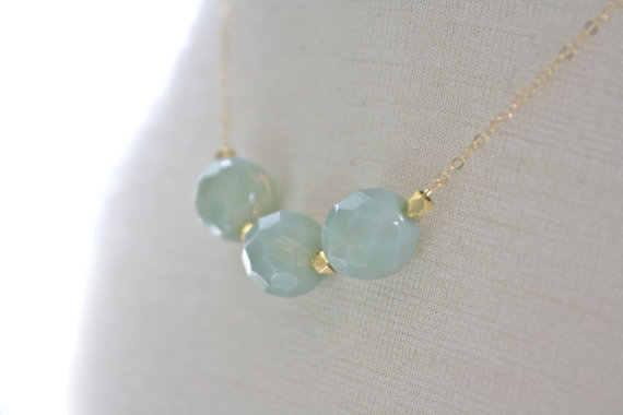 mint bauble necklace