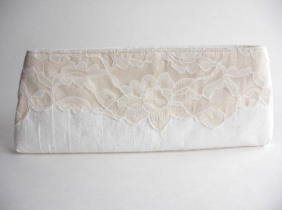 wedding wristlet - modern lacy bridal bag 2