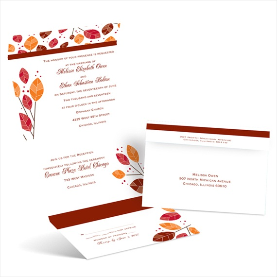 modern leaves - seal and send invitations