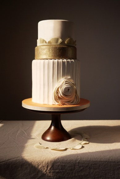 modern three tiered cake from charm city cakes