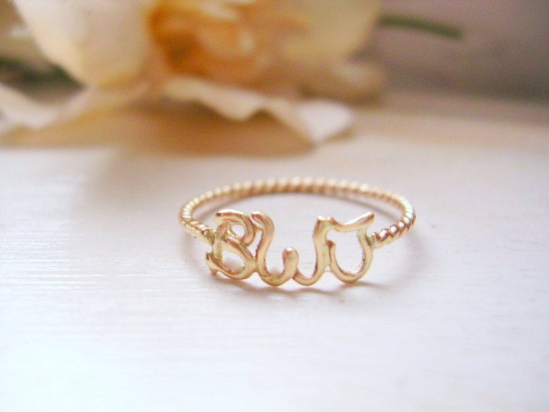 monogram ring via Monogram Gift Ideas Bridesmaids from EmmalineBride.com