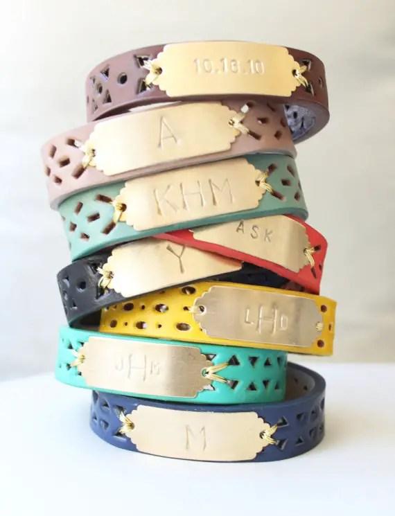monogrammed bracelet | monogrammed bridesmaid gifts