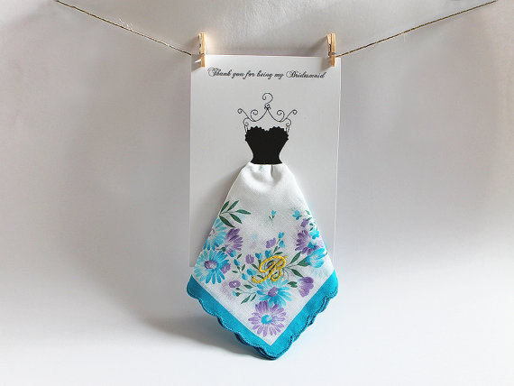 monogrammed bridesmaid handkerchief | monogrammed bridesmaid gifts