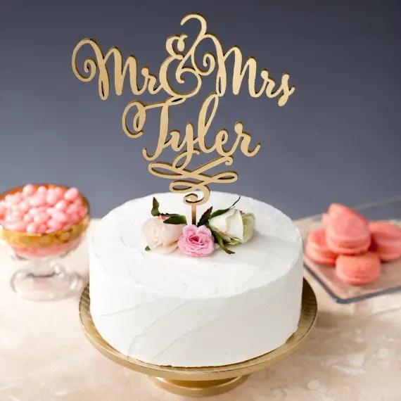 mr and mrs tyler cake topper