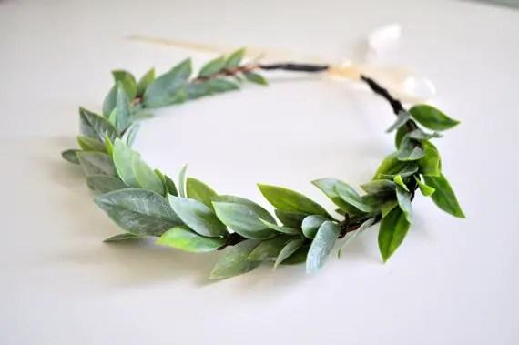 natural wedding hair crown by KimArt