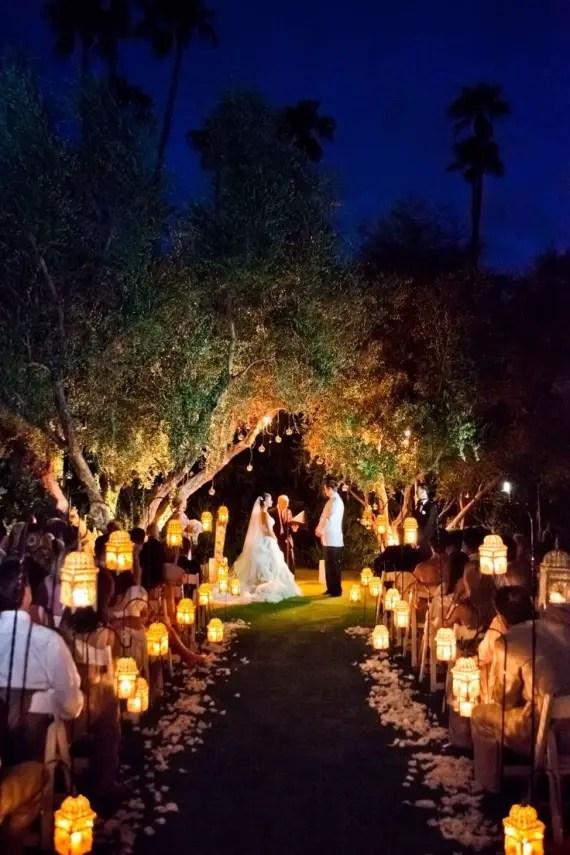 Wonderful Moroccan Style Lanterns For Aisle Decor   Night Wedding Ideas