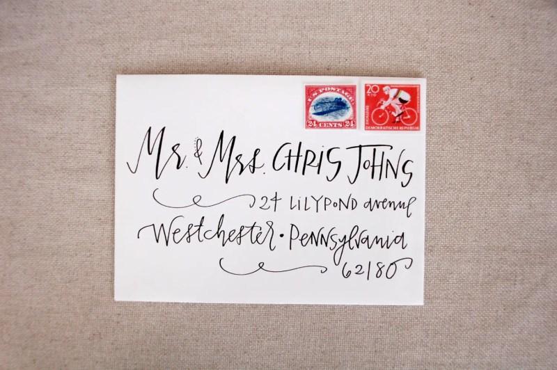 outer envelope wedding addressing