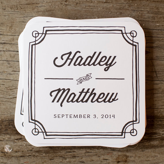 personalized wedding coasters - paper goods wedding