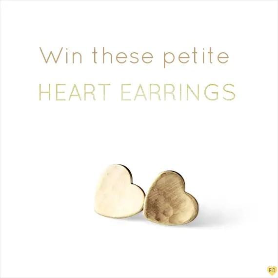 tiny heart earrings by Andrea Bonelli via EmmalineBride.com