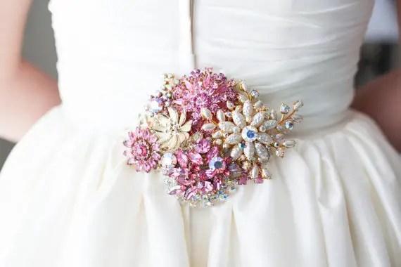 Rhinestone Sash For Wedding Dress 59 Trend pink and green vintage