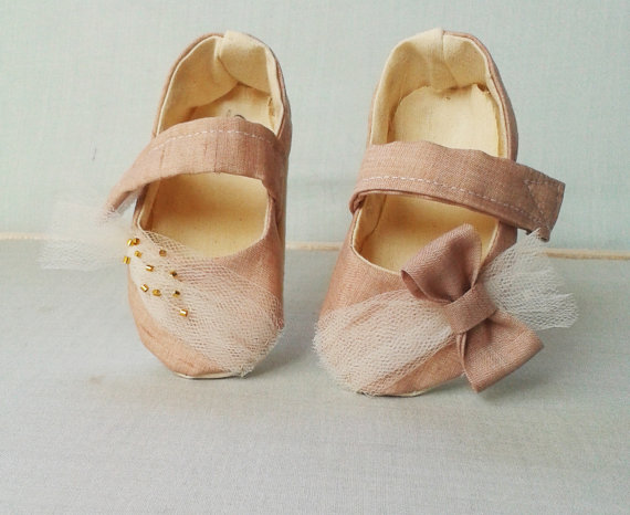 pink tulle flower girl shoes - 8 Perfect Ceremony Accessories