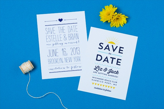 Beach - Spring Save the Dates (by Crafty Pie Press)