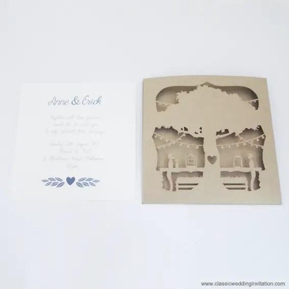 pocket folder cut out invitation