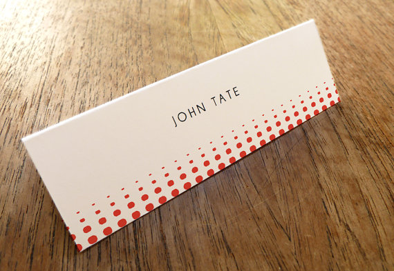 polka dot place card