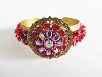 red cuff bracelet