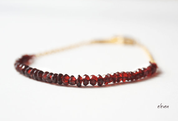 red bracelet garnet gold chain christmas wedding ideas