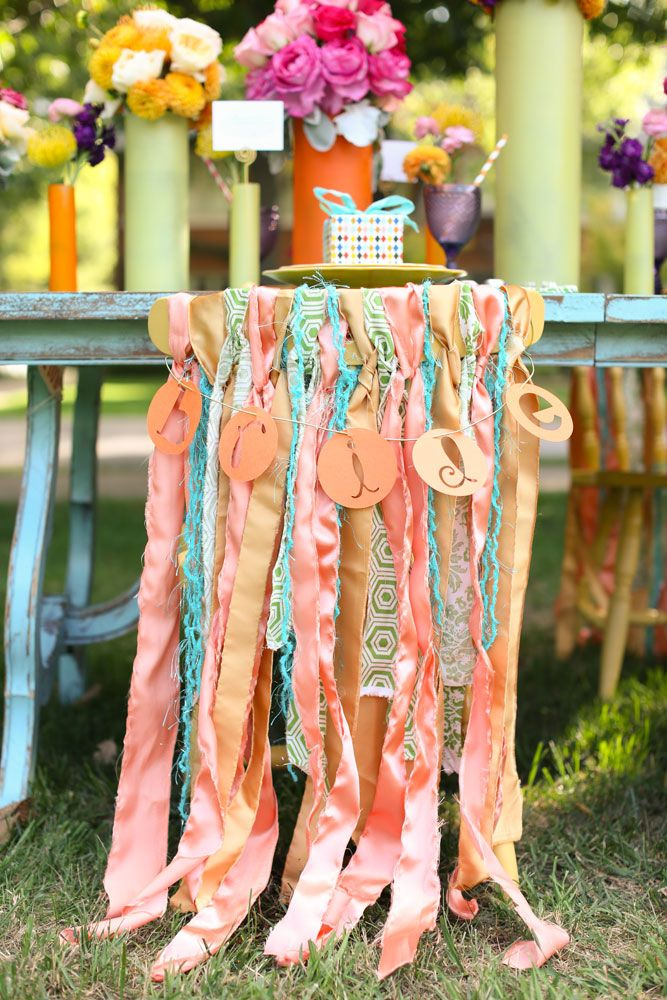 ribbon bride chair