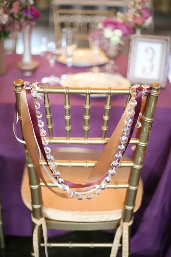 7 Stylish Wedding Chair Covers   Ribbon (photo: Diana Marie Photography)