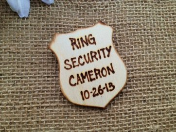 ring bearer badges - ring security