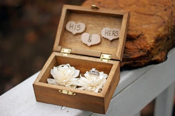 ring bearer box his and hers