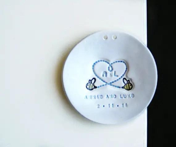 ring dish ornament by thebabyhandprintco