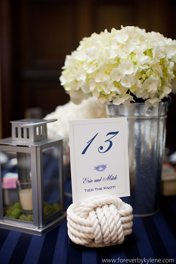 7 unique table number holders rope by karens wedding shop