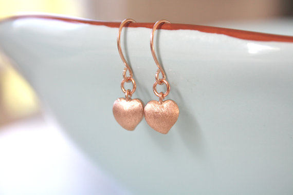 rose heart earrings by ava hope designs | via emmalinebride.com | valentine jewelry etsy