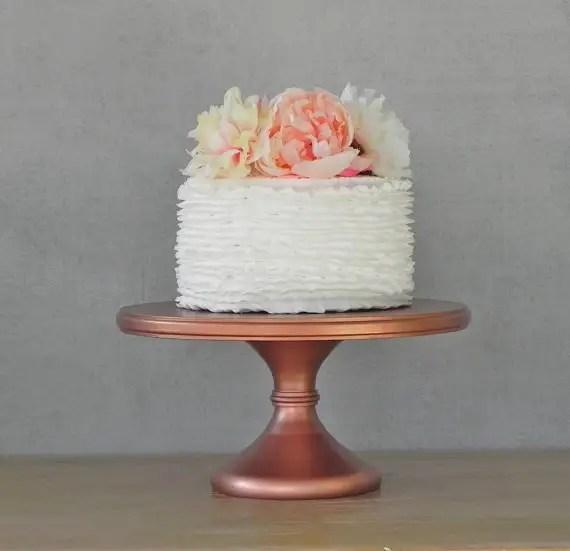 rose gold wedding cake stand by eisabelladesigns