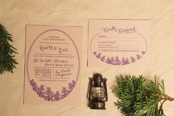 Camping Wedding Invitations: Planning A Camp Themed Wedding? This Invitation Seals The Deal