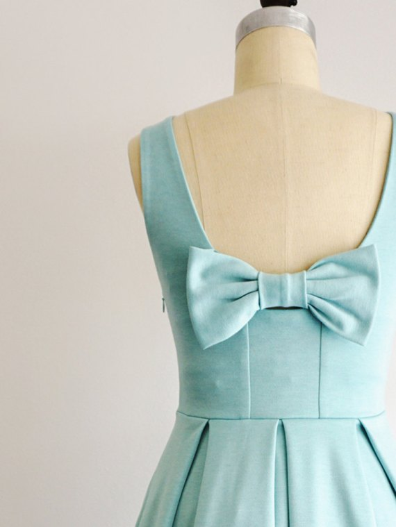 bridesmaid dresses bow on back by apricity