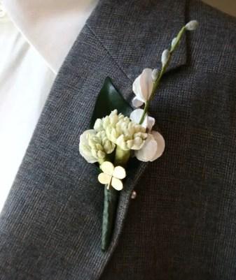 shamrock irish wedding boutonniere