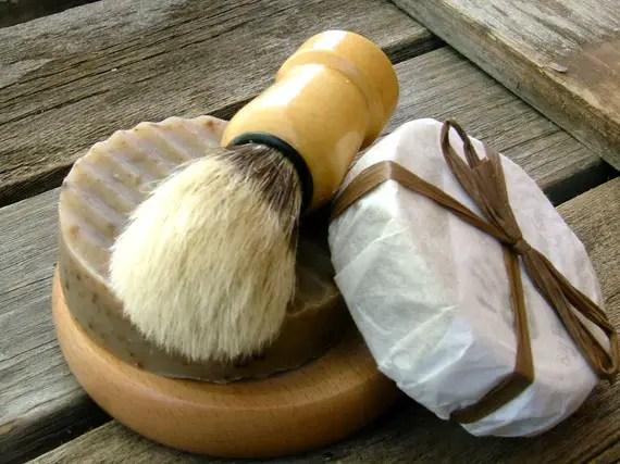 shave soap kit via 12 Manly, Unique Groomsmen Gift Ideas