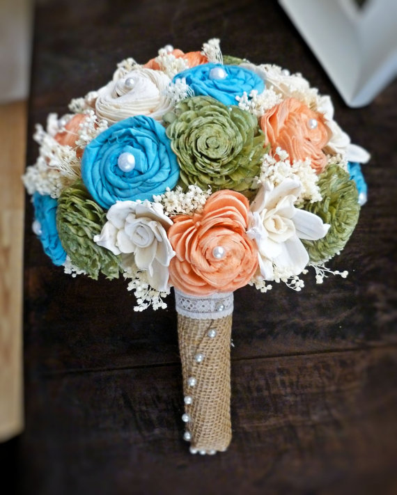 sola wedding bouquet - large fabric (by Curious Crafts)
