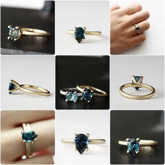 something blue engagement ring option