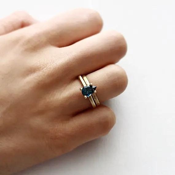something blue engagement ring