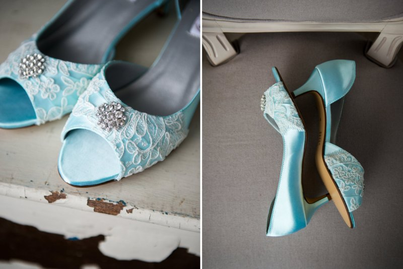something blue heels with lace by Becca & Louise